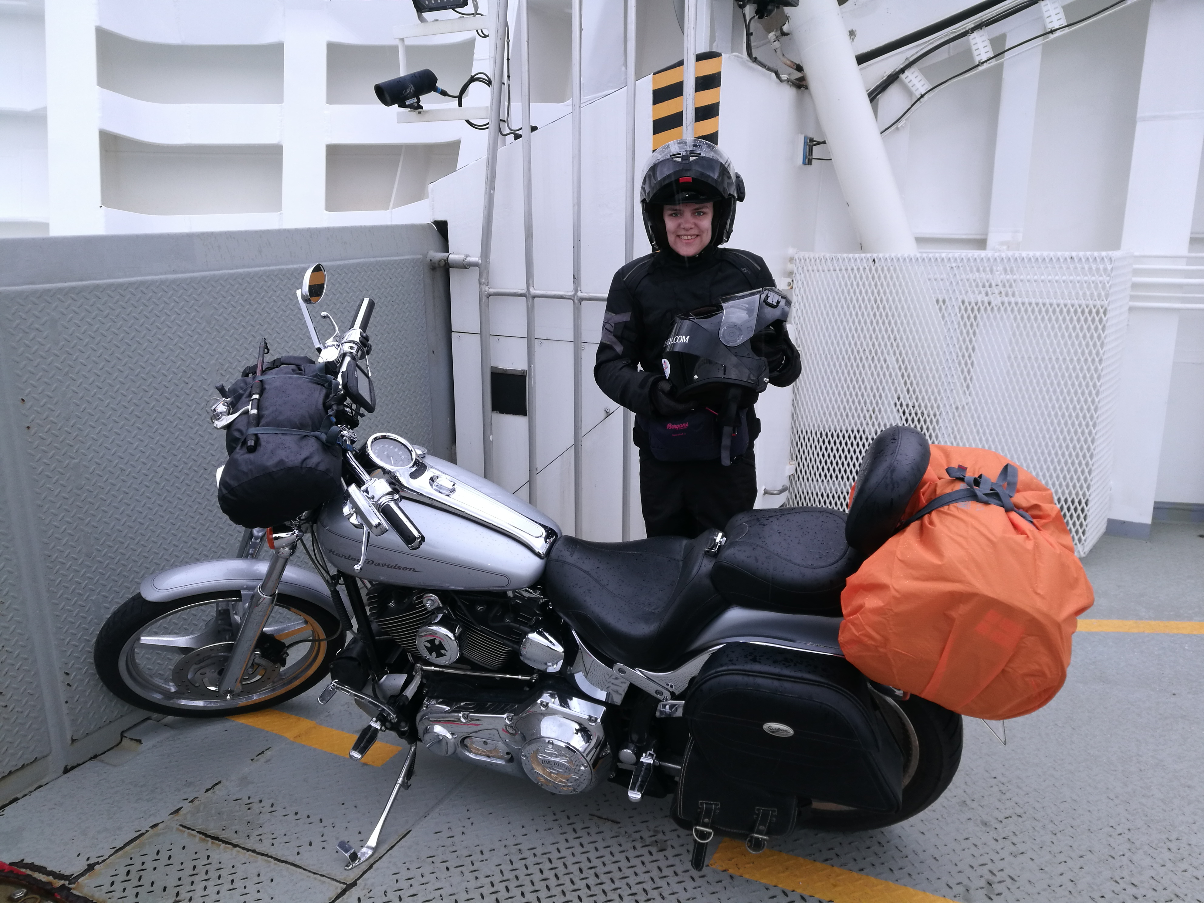 Motorcycle hits semi truck strange accident 31 12 2012 youtube - At Least For A Little While Before We Stopped To Fill The Tank Drove 10 More Minutes And Finally Got On The Ferry Out Of Town Now The Real Driving Was